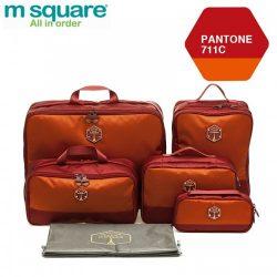 M SQUARE corporate luxury suitcase travel kit bag set (Wine red)